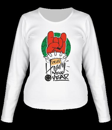 Женская футболка длинный рукав Happy New Year