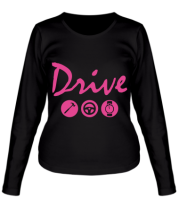 Женская футболка длинный рукав Drive