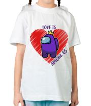 Детская футболка Love AMONG US
