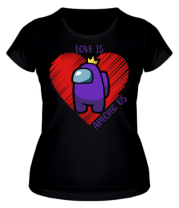 Женская футболка Love AMONG US