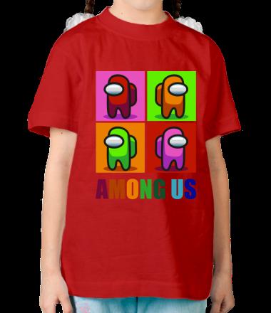 Детская футболка Among us rainbow