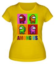 Женская футболка Among us rainbow