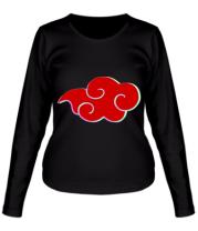 Женская футболка длинный рукав Akatsuki Naruto