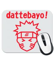 Коврик для мыши Naruto dattebayo!