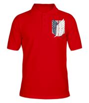 Мужская футболка поло Атака Титанов