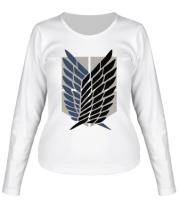 Женская футболка длинный рукав Атака Титанов