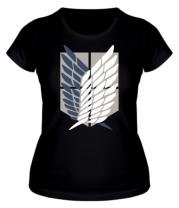Женская футболка Атака Титанов