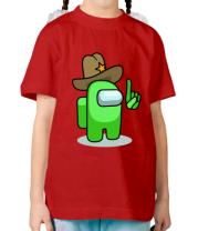 Детская футболка Салатовый в шляпе из Амонг ас.