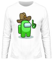 Мужская футболка длинный рукав Салатовый в шляпе из Амонг ас.