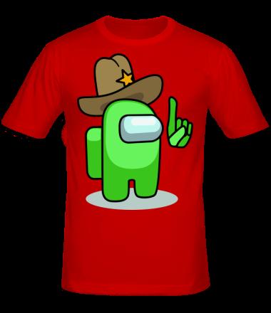 Мужская футболка Салатовый в шляпе из Амонг ас.