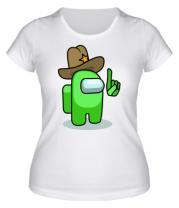 Женская футболка Салатовый в шляпе из Амонг ас.