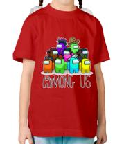 Детская футболка AMONG US - Семейное фото