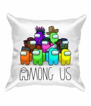 Подушка AMONG US - Семейное фото