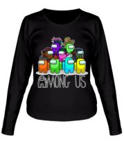 Женская футболка длинный рукав AMONG US - Семейное фото