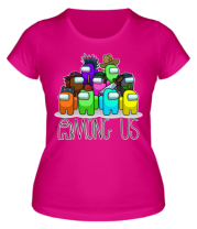 Женская футболка AMONG US - Семейное фото