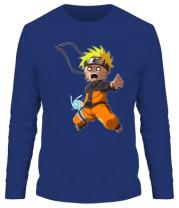 Мужская футболка длинный рукав Crazy Naruto