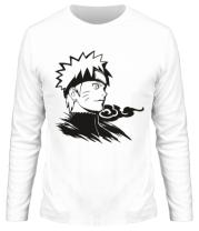 Мужская футболка длинный рукав Naruto Uzumaki head