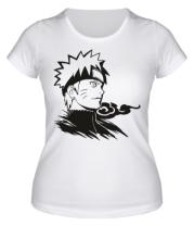 Женская футболка Naruto Uzumaki head