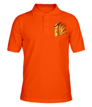Мужская футболка поло  Курама - Наруто
