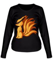 Женская футболка длинный рукав  Курама - Наруто