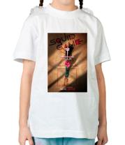 Детская футболка Игра в кальмара постер