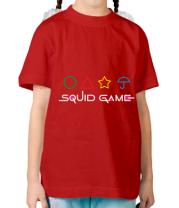 Детская футболка Logo Игра в кальмара
