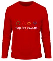 Мужская футболка длинный рукав Logo Игра в кальмара