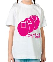 Детская футболка Маски в кальмара