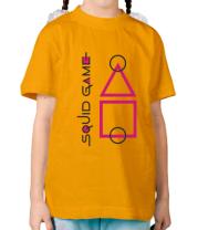 Детская футболка Лого Игра в кальмара 3