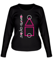 Женская футболка длинный рукав Лого Игра в кальмара 3