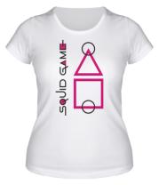 Женская футболка Лого Игра в кальмара 3