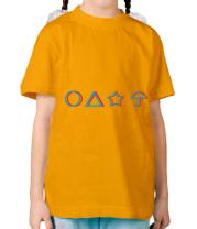 Детская футболка Лого Игра в кальмара 3d
