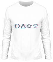 Мужская футболка длинный рукав Лого Игра в кальмара 3d