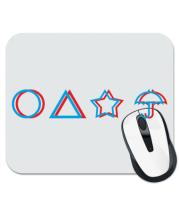 Коврик для мыши Лого Игра в кальмара 3d