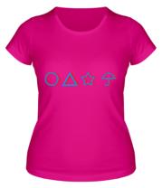 Женская футболка Лого Игра в кальмара 3d