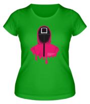 Женская футболка Квадрат Игра