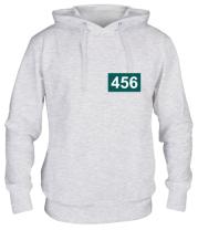 Толстовка худи Игрок 456 (любую цифру)