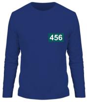 Мужская футболка длинный рукав Игрок 456 (любую цифру)