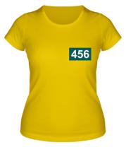 Женская футболка Игрок 456 (любую цифру)