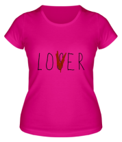 Женская футболка  LOVER