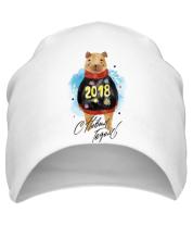 Шапка C новым годом 2018