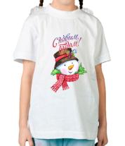 Детская футболка  Снеговик новый год