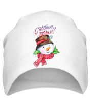 Шапка Снеговик новый год