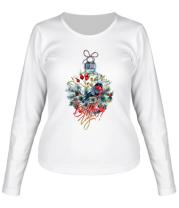 Женская футболка с длинным рукавом Новый год