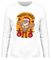 Мужская футболка с длинным рукавом Train hard