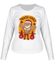 Женская футболка с длинным рукавом Train hard