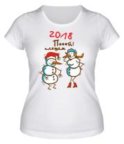 Женская футболка Мою и пляшем
