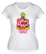 Женская футболка  С Новым годом