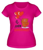 Женская футболка  С днем Всех Влюбленных