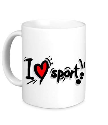 Кружка Я люблю спорт